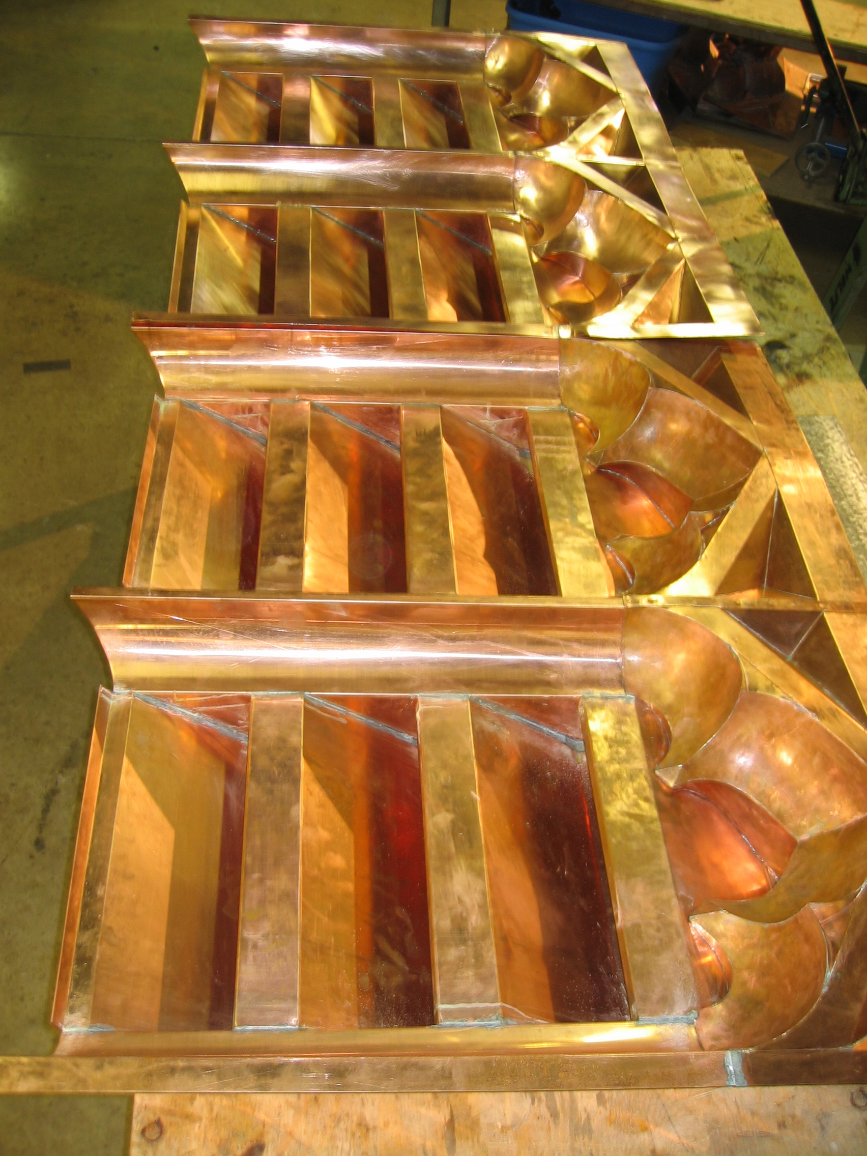Copper Louvers with Ornamental Headers